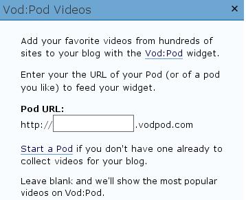 vodpod widget